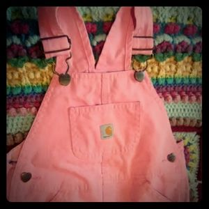 Flannel lined Carhartt overalls